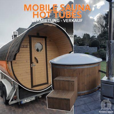 Mobile Sauna und Hot Tube im Emsland und der Grafschaft Bentheim