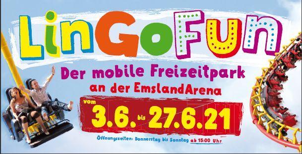 Mobiler Freizeitpark Lingen: LinGoFun - Kirmestreiben vom 3. bis zum 27. Juni an der EmslandArena in Lingen