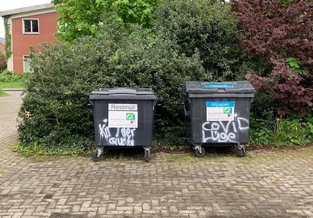 Schüttorf - Zahlreiche Sachbeschädigungen durch Graffiti - Foto: Polizei