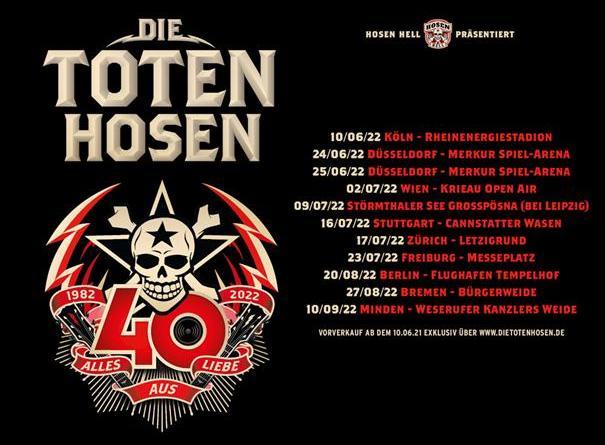ALLES AUS LIEBE - 40 JAHRE DIE TOTEN HOSEN TOUR 2022
