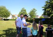 Die Kinder waren begeistert vom nicht-alltäglichen Lauftraining. Foto: Stadt Haren (Ems)