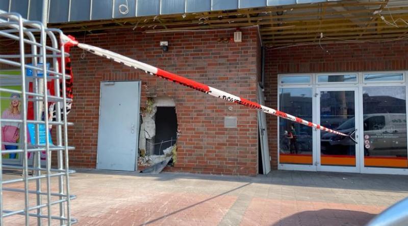 Geldautomat in Schüttorf gesprengt - Foto: B.P.