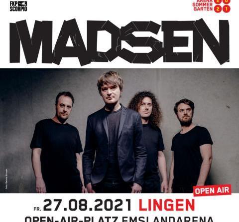 ARENA SOMMERGARTEN 2021 mit MADSEN auf dem Open-Air-Platz EmslandArena