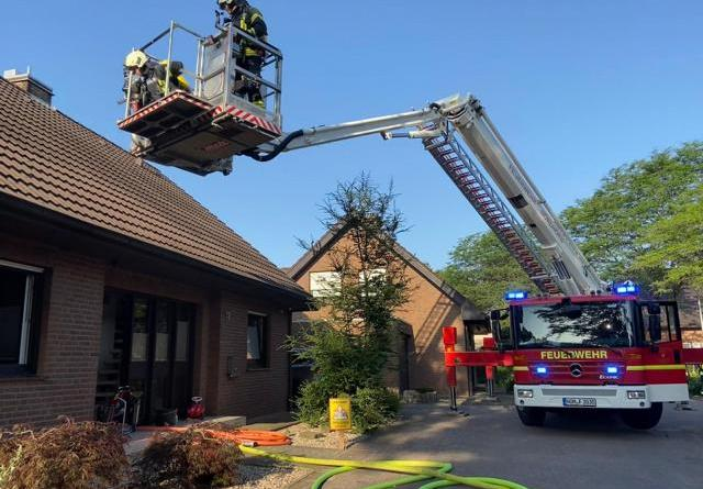 Küchenbrand in der Kreusmaate schnell gelöscht - Foto: Hendrik Brink, Feuerwehr Norhdorn