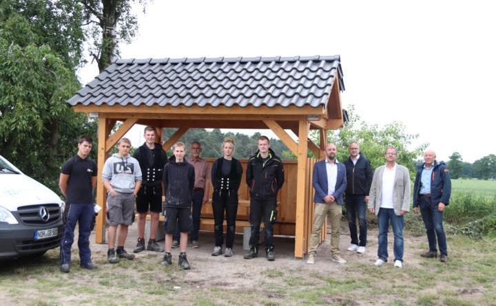 Neue Radwanderhütten in Wietmarschen aufgestellt – Ein Gemeinschaftsprojekt mit der GBS Nordhorn - Foto: Gemeinde Wietmarswchen