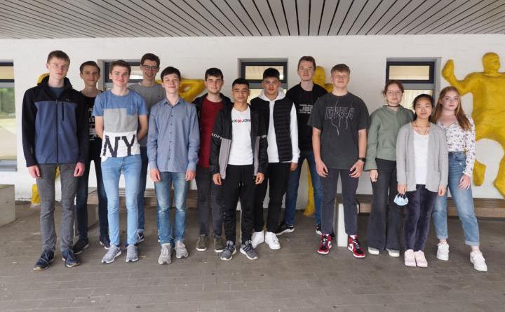 Gruppe des Gymnasiums Nordhorn 2. Sieger bei MINT-Wettbewerb der Leibniz-Universität Hannover - Foto: Gymnasium Nordhorn