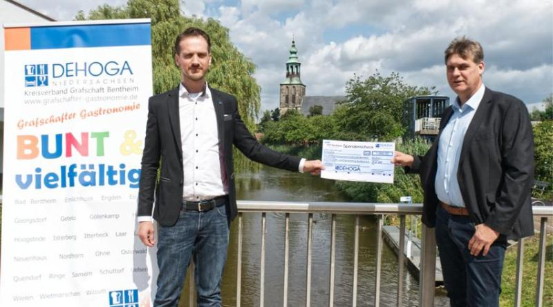 DEHOGA Grafschaft Bentheim und VVV Nordhorn spenden für Flutopfer - Foto: DEHOGA