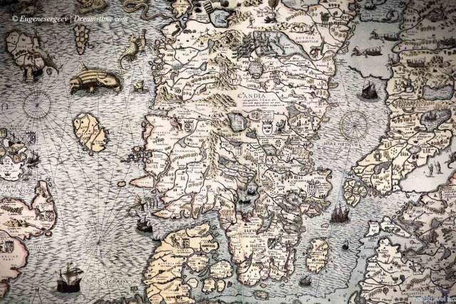 История Севера. Старинная карта Скандинавии
