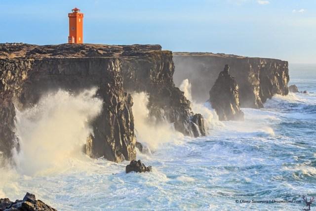 Суровая природа Исландии. Береговая линия острова