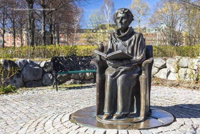 Астрид Линдгрен. Памятник в Стокгольме. Швеция.