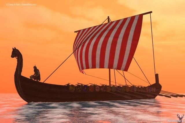Драккар норвежских викингов