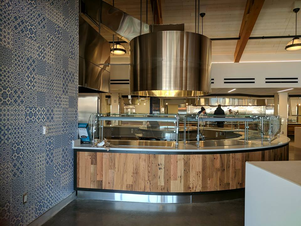 Mongolian grill in the new Commons dining hall
