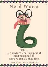 Nerd Worm card