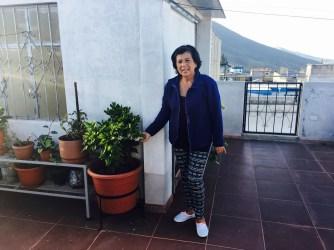 Luisa on her rooftop