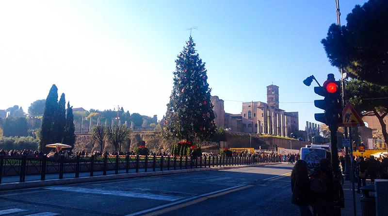 Julgran i Rom