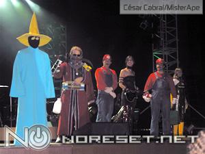 Os melhores cosplay do evento subiram ao palco para o julgamento do público