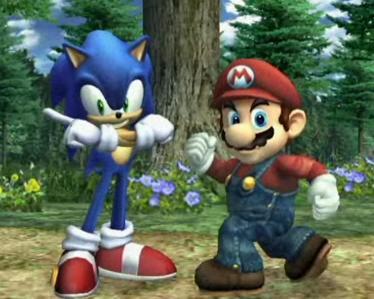 Os dois maiores icones da história dos videogames frente a frente!