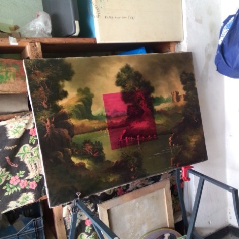 Refurbished painting, 2016