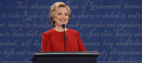 Image of Presidential Debate from HillaryClinton.com