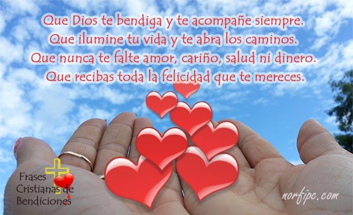 Que Buenos Acompane Amor Dias Mi La Bendicion De Para Dios Te