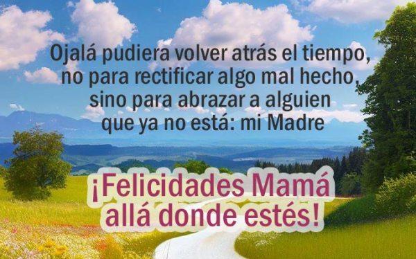 Felicidades Mamá allá donde estés y que Dios te tenga en la gloria