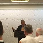 DA Morrissey speaking at legislative breakfast