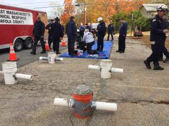 Norfolk County Tech Rescue Team training - 01
