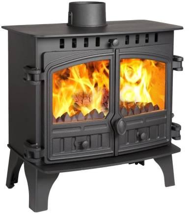 Hunter Herald 8 slimline, double door, multifuel stove