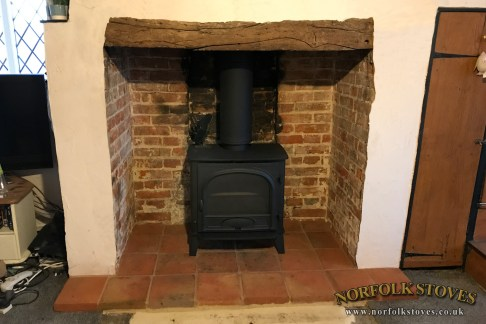 Stovax Stockton 8 Wood Burner installed in a period property