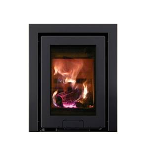 """The Di Lusso R4 Inset is a flush fitting inset stove built to fit into a 16"""" x 22"""" fireplace. Excellent efficiency and flame picture."""