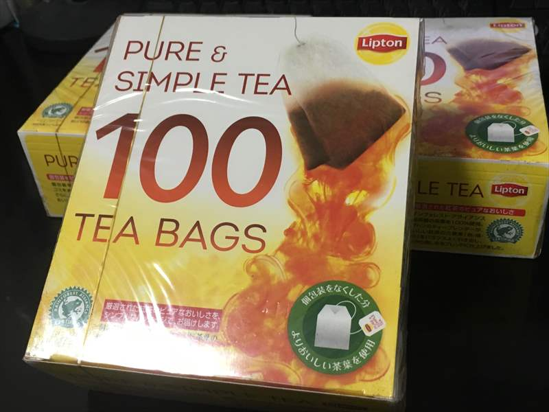 リプトン ピュア&シンプル 100袋 ミルクティーは精神安定剤!? 紅茶のティーバッグ&コーヒーを大量GETで毎日ミルクティー!!