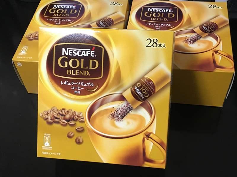 スティックコーヒー ネスカフェ ゴールドブレンド 28P×3箱 ミルクティーは精神安定剤!? 紅茶のティーバッグ&コーヒーを大量GETで毎日ミルクティー!!