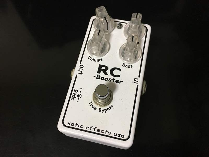 Xotic RC Booster クリーンブースター&ODの弾き比べ。 -RC Booster、D.A-Booster3、BD-2、GD-013- アンプがクリーンの状態でほんの少しブーストさせる。
