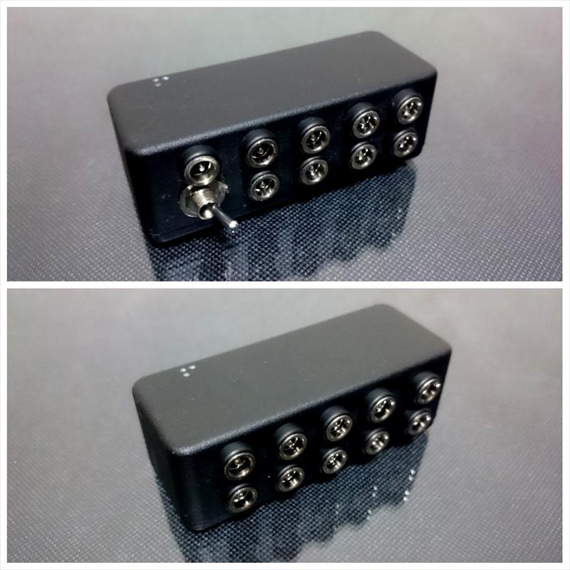 InMK パワーサプライ自分のエフェクターボードに合わせて電圧指定できるコンパクトパワーサプライ!