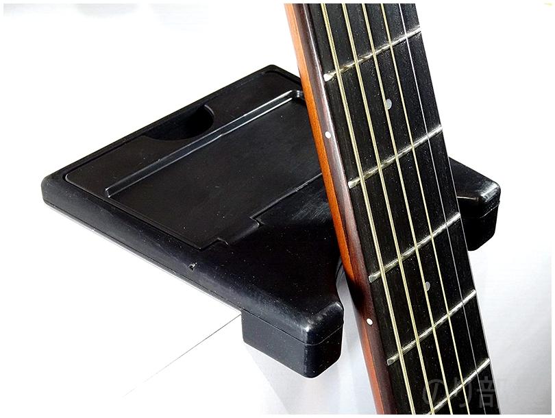 ギターをたてられる。Desktop Guitar Holder (デスクトップ・ギター・ホルダー) /ギター・スタンド /ギター・ホルダーもスゴイ! Guitar Rest PW-GR-01 ギターレストが机に立て掛けられるようになり便利でオススメ!