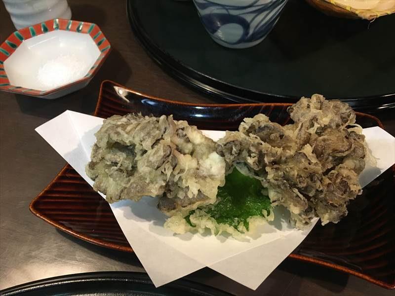 舞茸の天ぷら 伊香保温泉
