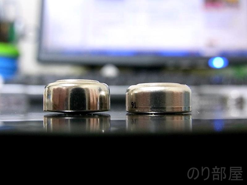 LR44の電池の大きさの違い 【故障?】レアアースブレンドの電池は「LR44」ではなく「〇〇」を!! 音が出なくなった時に読む記事【FISHMAN Rare Earth Blend】