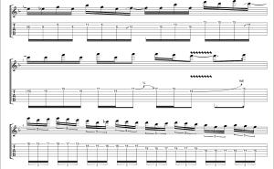 【TAB】Hatebreeder - Children Of Bodom 1st Guitar solo。 テクニカルギターソロの練習に最適でオススメ!