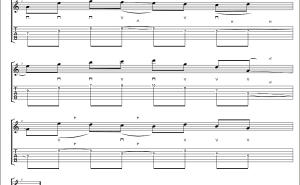 【TAB】スウィープの練習フレーズ。小スウィープ+右手のリズムにオススメ! #norinori0107