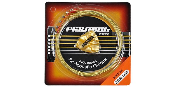 PLAYTECH ( プレイテック ) / AGS-1354 アコースティックギター弦【248円】PLAYTECH AGS アコースティックギター弦 が安い!【111円~】安いアコースティックギター弦特集! 値段を気にせず常に新しい弦で練習できるおすすめ格安・激安アコギ弦!レビュー・感想【コーティング弦】