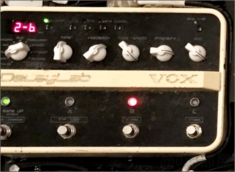 VOX ヴォックス ディレイ・エフェクトの決定版 DelayLabKOTORI・上坂仁志さんの ツマミ・ノブの位置 KOTORI・上坂仁志さんの機材・エフェクターボード【徹底紹介】KOTORI・上坂仁志のエフェクターボード・機材を解析!ツマミ・ノブの位置も分かる!ギターを支える足元の機材の数々を紹介! #KOTORI #上坂仁志【金額一覧】