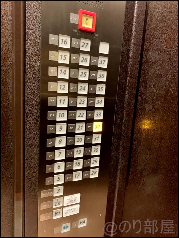 サンシャインシティプリンスホテルのエレベーター   【感想】サンシャインシティプリンスホテルの部屋がキレイで景色が良くてオススメ!サンシャインで遊ぶ人・家族には最高!【評価・口コミ】