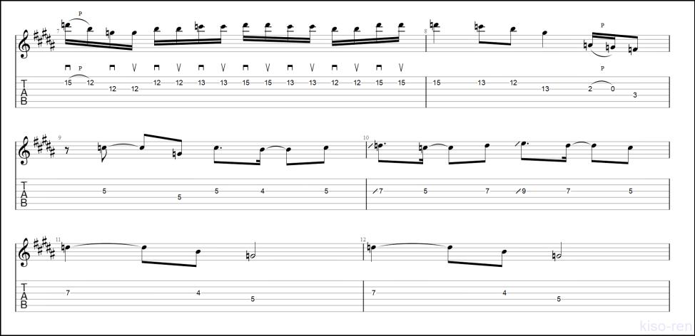 【TAB】紅 / X JAPAN のギターソロを絶対弾ける練習方法。【動画・kure-nai Guitar Solo】