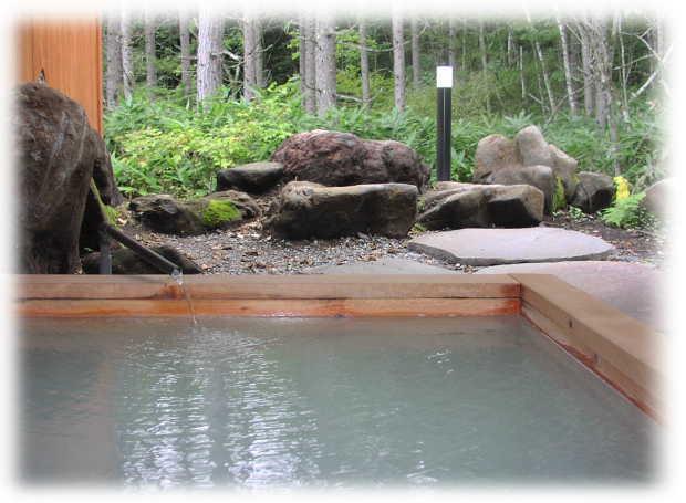 ペンションパルの露天風呂