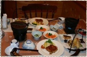 高原の宿ラプランド 料理の一例