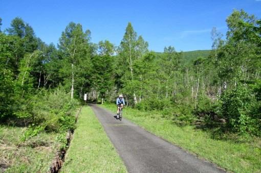 一の瀬園地でサイクリング