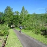 一ノ瀬園地でサイクリング