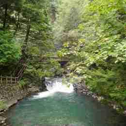 善五郎の滝ー下流