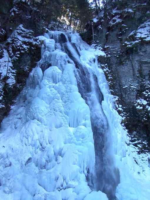 番所大滝の氷瀑