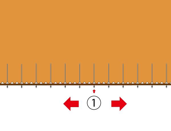 シートパイル+仮設アンカー設置